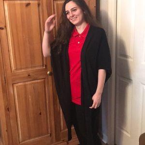 Oversized Black Cardigan Sweater